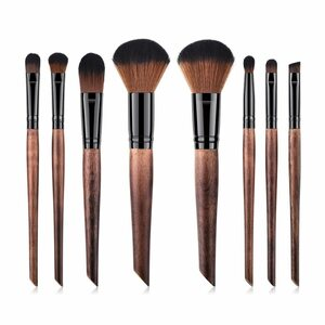Veganes Make-up Pinsel Set - Holz und Schwarz - Hurtig Lane