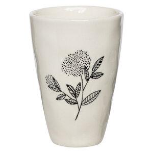 Becher Floral aus Steinzeug, 300 ml - TRANQUILLO