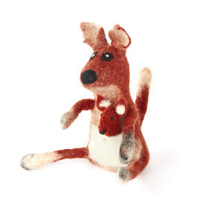 Känguru mit Baby im Bauch als Filz Eierwärmer - short'n'pietz