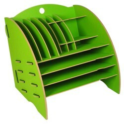 Schreibtisch Organizer Ordnungssystem Ablagebox Büro Holz 30 x 32 cm ver. Farben - Werkhaus GmbH