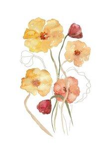 Blumen Bouquet - Poster von Christina Wolff - Photocircle