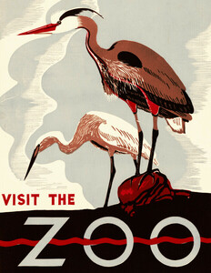 Visit The Zoo - Poster von Vintage Collection - Photocircle