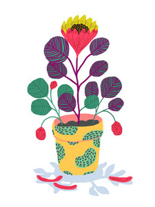 Plant pet - Poster von Ezra W. Smith - Photocircle