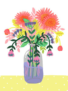 Flowers in a bottle - Poster von Ezra W. Smith - Photocircle