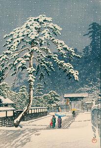 Ikegami Honmonji Temple by Hasui Kawase - Poster von Japanese Vintage Art - Photocircle