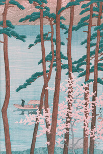 Spring by Hasui Kawase - Poster von Japanese Vintage Art - Photocircle