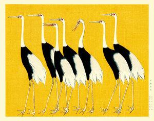 Red crown cranes by Ogata Korin - Poster von Japanese Vintage Art - Photocircle