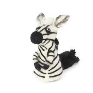 Zebra als Filz Eierwärmer - short'n'pietz