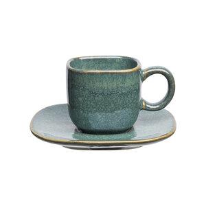 Espresso-Set Industrial aus Steinzeug mit reaktiver Glasur, 100 ml - TRANQUILLO