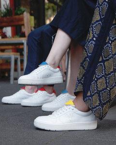 Sneaker Davis Women - weiß mit verschiedenen Farbkombis - Ella & Witt