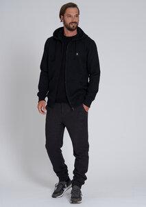 Herren Sweatjacke aus Bio Baumwolle schwarz | Sweatjacket ALDER #RECO - recolution