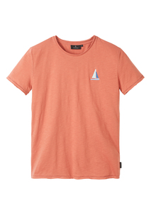 Herren T-Shirt #SAILINGBOAT aus Baumwolle (Bio) | Casual T-Shirt #SAILINGBOAT - recolution