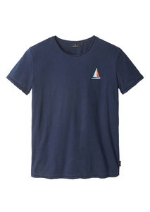 Herren T-Shirt #SAILINGBOAT aus Baumwolle (Bio)   Casual T-Shirt #SAILINGBOAT - recolution