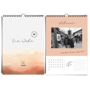 Fotokalender A4 immerwährend 'MOOD' ohne Jahresangabe und daher wiederverwendbar - heaven+paper