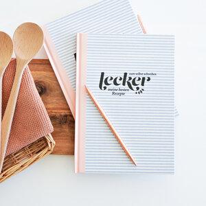Kompaktes Rezeptbuch 'Happy Home' zum Selberschreiben mit Verzeichnis für bis zu 80 Lieblingsrezepte - heaven+paper