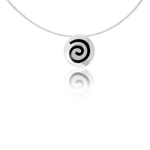 Kette Silber Spirale Anhänger fein handmade sustainable Fair-Trade - pakilia