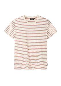 Gestreiftes Herren T-Shirt aus Baumwolle (Bio) navy/weiß   Casual T-Shirt #STRIPES - recolution