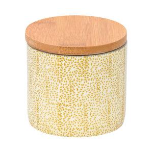 Dose Japanese aus Steingut mit Bambusdeckel 7,5 cm - TRANQUILLO