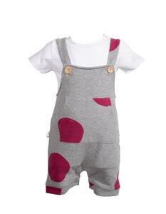 Latzhose in Bio-Baumwolle Mausi - gepunktet - CORA happywear