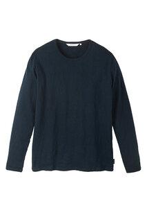 Herren Langarmshirt aus Baumwolle (Bio) dunkelblau | Heavy Longsleeve navy - recolution