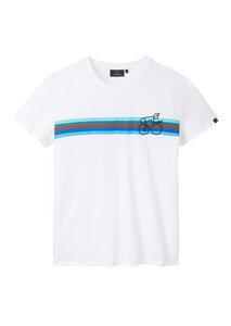 Herren T-Shirt #BIKESTRIPE aus Baumwolle (Bio) | Casual T-Shirt #BIKESTRIPE - recolution