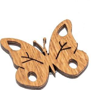 Schmetterling Magnet aus Eichenholz geölt - 4er Set - ReineNatur