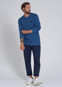 Herren Strickpullover aus Baumwolle (Bio) blau | Knit Crew Neck #WAFFLE - recolution