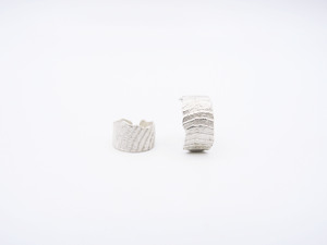 Noordwijk Earcuff - recyceltes Silber - say time