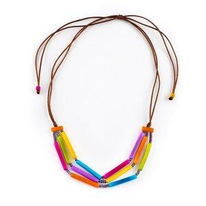"""Tagua Kette """"Alpachin"""", Länge verstellbar bis ca. 85 cm, Textilband, Steinnuß (Naturprodukt), Fairtrade - Mekhada"""