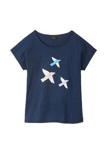 Print Damen T-Shirt #BIRDS aus Baumwolle (Bio)   Casual T-Shirt #BIRDS - recolution