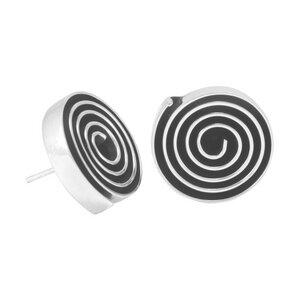 Silber Ohrringe Labyrinth rund Fair-Trade und handmade - pakilia