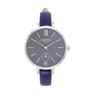 Amalfi Petite Veganes Leder Uhr Silber/Grau - Hurtig Lane