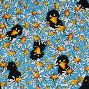 Jersey Bio-Baumwoll-Stoff Rabenwiese - Egedeniz Textile