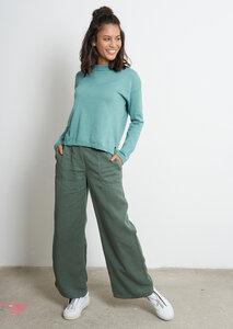 Damen Strickpullover aus Bio Baumwolle   Basic Knit Crew Neck - recolution