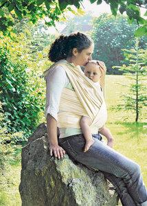 Lotties Baby Tragetuch aus Bio Baumwolle Stoff natur ver. Größen - Lotties