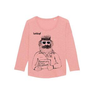 KULTURBANAUSE Bedrucktes Damen T-Shirt -langarm- aus Bio-Baumwolle - karlskopf