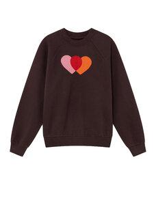 Orange Hearts Sweatshirt - thinking mu