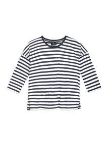 Damen Langarmshirt aus Tencel und Bio Baumwolle   Tencel Longsleeve #STRIPES navy /white - recolution