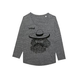 MEXIKANER Bedrucktes Damen T-Shirt -langarm- aus Bio-Baumwolle - karlskopf