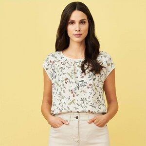 T-Shirt mit Wildblumendruck aus ECOVERO-Viskose und Baumwolle (kbA) - Living Crafts