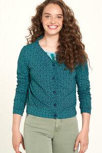 Jersey Jacke aus Bio-Baumwolle mit Print in Blau - TRANQUILLO