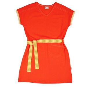 Mädchen Vneck Kleid tomato cherry - Bio-Baumwolle - Baba Kidswear