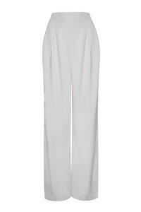 Weite Hose aus Lyocell in Grau - NINA REIN