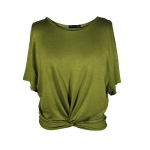 "Damen T-Shirt aus Bambus Viskose ""Twisted Shirt"" - Flying Love Birds"