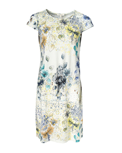 Kurzarmkleid aus Bio-Baumwolle 'Art-Flower Kleid' - Alma & Lovis