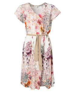 Kurzarmkleid mit Blumenprint und Bindegürtel aus Bio-Baumwolle 'Art-Flower Dress' - Alma & Lovis