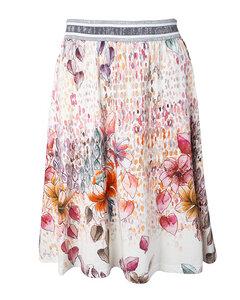 Sommer Rock mit Blumenprint aus Bio-Baumwolle 'Art-Flower Skirt' - Alma & Lovis