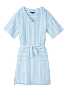Damen Kleid aus Leinen und Baumwolle (Bio) | Dress #STRIPES - recolution