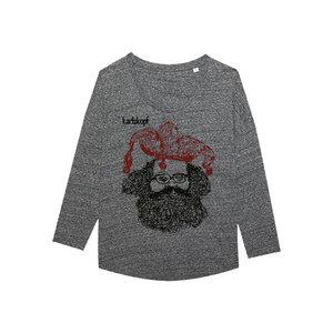 CASPER Bedrucktes Damen T-Shirt -langarm- aus Bio-Baumwolle - karlskopf