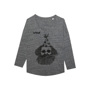 FASCHING Bedrucktes Damen T-Shirt -langarm- aus Bio-Baumwolle - karlskopf